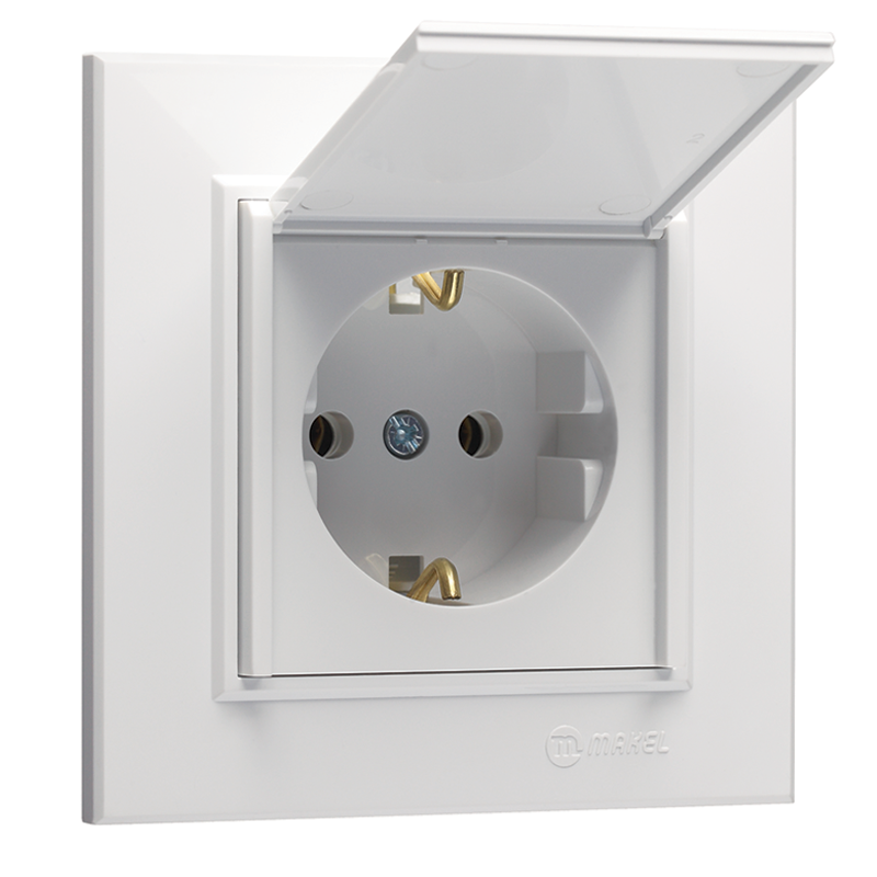 Schuko Socket Outlet With Lid