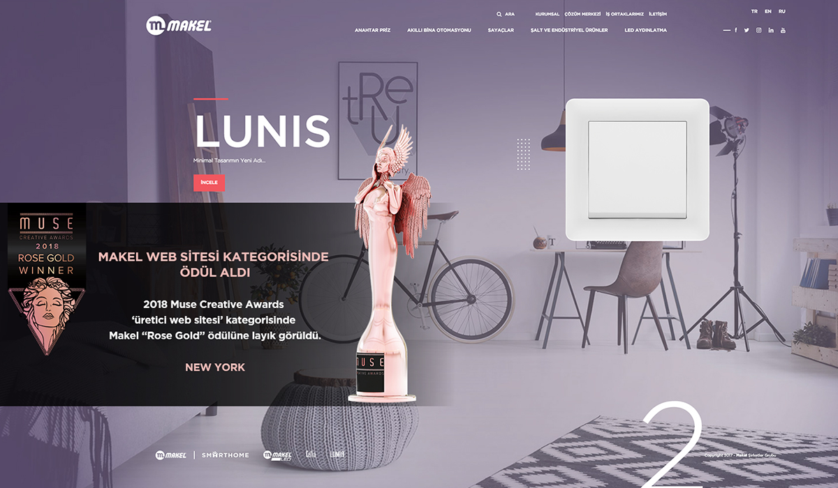 Muse Creative Awards'dan Makel Web Sitesi'ne Ödül…