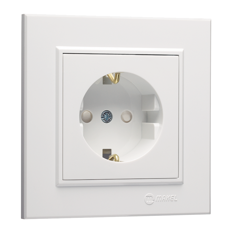 Schuko Socket Outlet with Child Protection