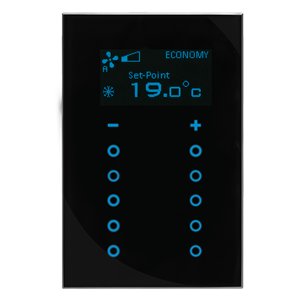 GTS Sense Touch Sense with Thermostat 10 Channel Switch, Square Black